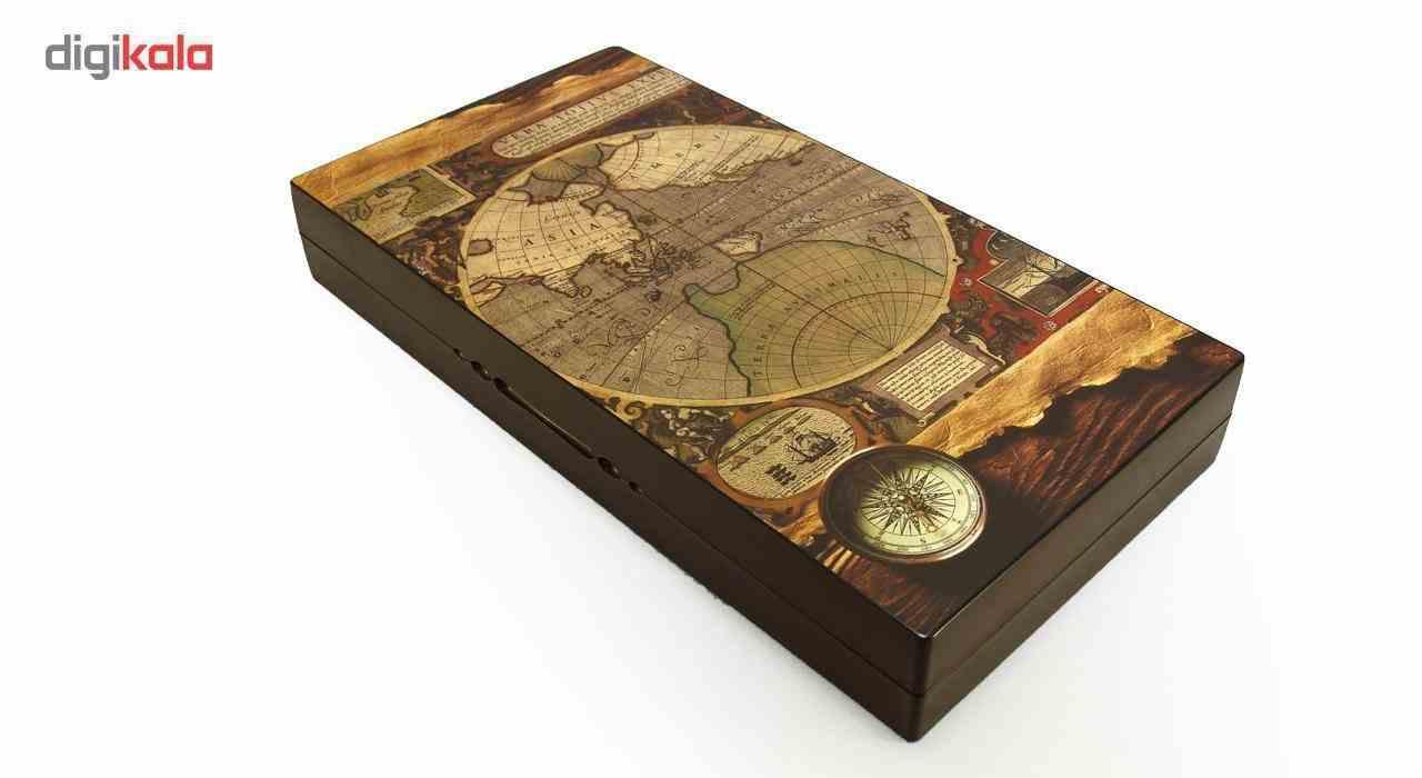 صفحه شطرنج و تخته نرد گالری نفیس طرح نقشه طول 50 سانتیمتر